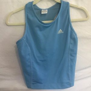 Adidas cropped workout shirt with inner sports bra